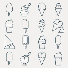 Collection Of Ice Cream Icons