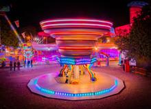Illuminated Night Park Rides