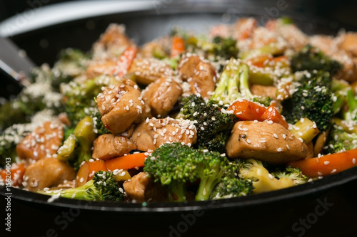 Photo Chicken And Vegetable Stir fry