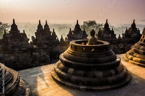 Garden Poster Temple Borobudur Temple, Yogyakarta, Java, Indonesia.