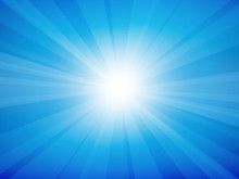 Blue Sky Rays Background