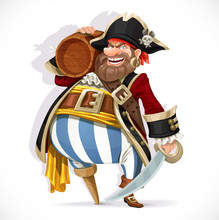 Old Pirate With A Wooden Leg H...