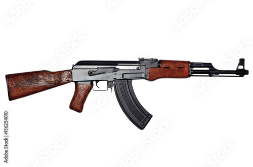 Assault rifle on white background Wallpaper Mural