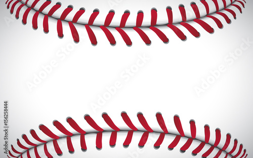 Texture of a baseball, sport background, vector illustration Wallpaper Mural