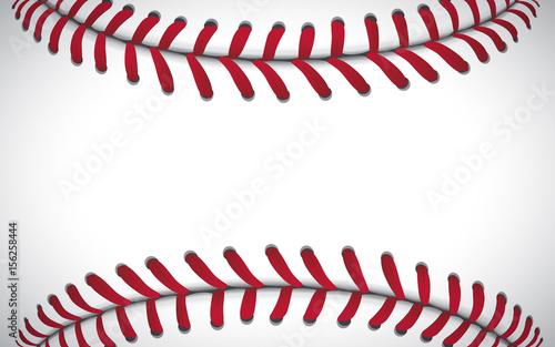 Texture of a baseball, sport background, vector illustration Canvas Print