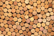 Closeup Of Wall Of Used Wine Corks Background