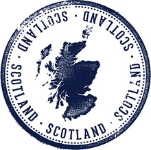 Vintage Scotland Country Stamp