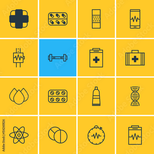 Photo  Vector Illustration Of 16 Medical Icons