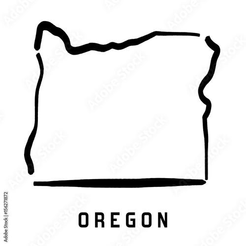 Fototapeta Oregon simple map shape obraz