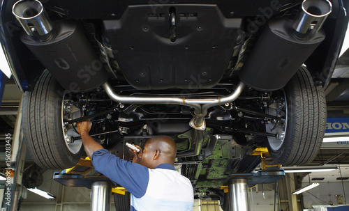 Honda Auto Technician Okine Performs Preparation And Inspection On First  2013 Honda Accord To Arrive At