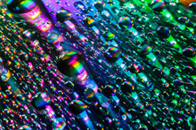 Abstrack Water Drop On Cd Rainbow Effect