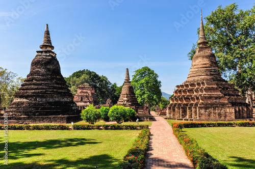 Stupas in Sukhotai park, Thailand