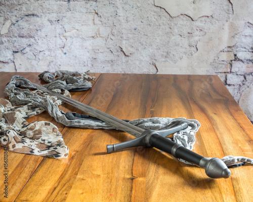 Foto op Aluminium Jacht Schwert und Tuch