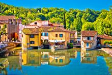 Mincio River And Idyllic Village Of Borghetto View