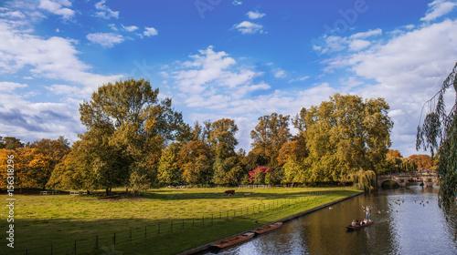 Foto op Canvas Herfst Cambridge punting on River Avon