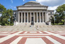 Exterior Of The University Library Of Columbia University, Upper Manhattan, New York City, United States Of America
