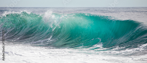 Spoed Foto op Canvas Water Turquoise blue wave