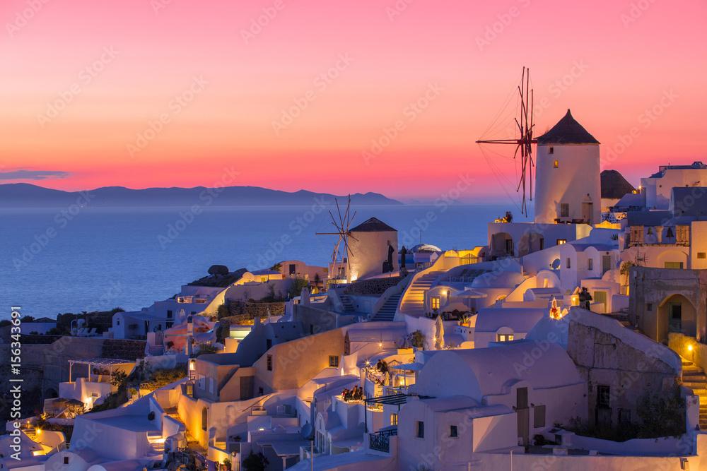 Fototapety, obrazy: Beautiful sunset in Santorini, Greece