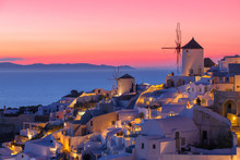 Beautiful Sunset In Santorini,...