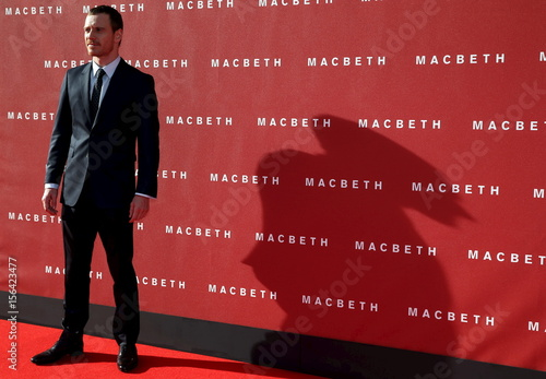 Actor Michael Fassbender arrives for the British premiere of