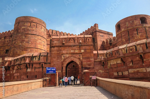 Amar Singh Gate of Agra Fort, Agra, Uttar Pradesh, India Wallpaper Mural
