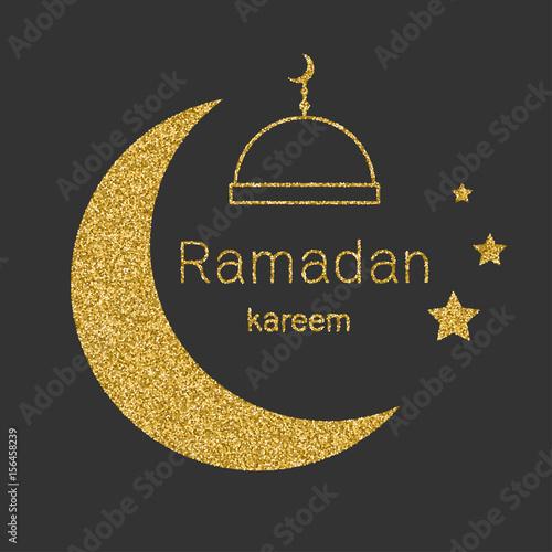 Ramadan kerim arabic background with gold glitter moon template ramadan kerim arabic background with gold glitter moon template design for greeting card stopboris Image collections