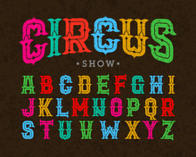 Vintage Style Typeface, Circus...