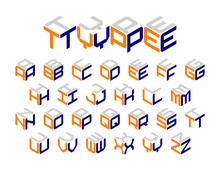 Isometric 3d Type, Three-dimensional Alphabet