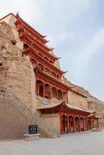 Mogao Caves, Grottoes In Gansu...