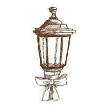 Christmas Lantern And Bow Ribb...