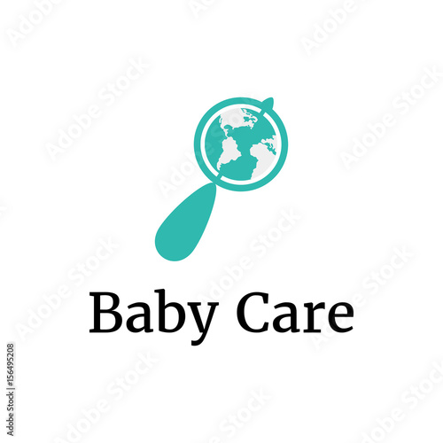 vector logo template for baby shop store market or child center