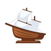 Small Sailboat Figurine