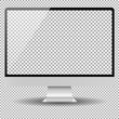 Blank isolated computer realistic screen mockup