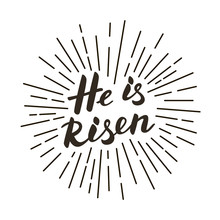 He Is Risen! Modern Black And ...