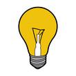 light bulb isolated icon vector illustration design