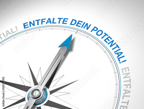 Fotografie, Obraz  Entfalte dein Potential! Kompass