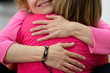 canvas print picture - Two women are hugging