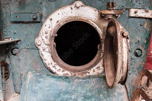 Photo Steam locomotive  mechanics closeup