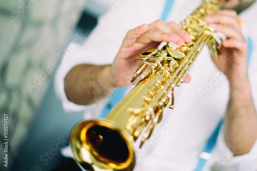 Zdjęcie XXL Muzyka jazzowa gracza Sax