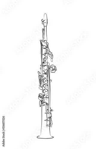 Photo saxophone soprano