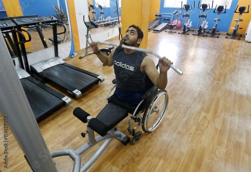 A wheelchair-bound Palestinian freelance photographer