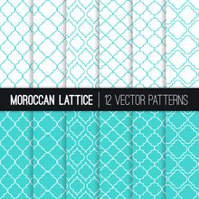 Turquoise Moroccan Lattice Sea...