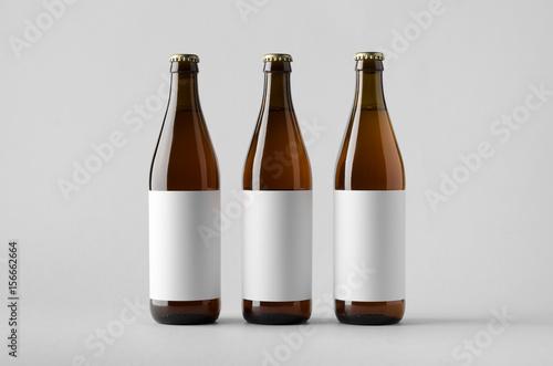 Fototapeta Beer Bottle Mock-Up - Three Bottles. Blank Label obraz