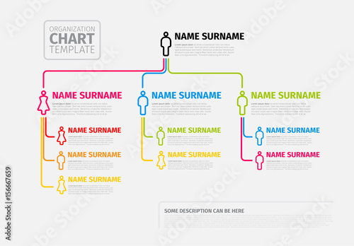 Colorful Organizational Chart Layout Buy This Stock