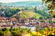 Leinwanddruck Bild - view of Esslingen am Neckar Germany with castle