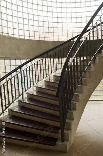 Abstract Picture Of A Vintage Spiral Staircase