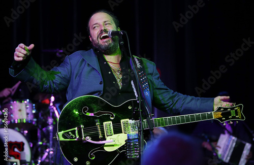 Guitarist and lead singer Raul Malo performs with the