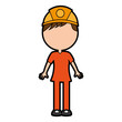 male miner avatar character vector illustration design