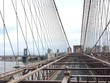 Structure of Brooklyn bridge with cable and Manhattan bridge