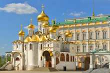 Annunciation Cathedral Of Moscow Kremlin. Russia
